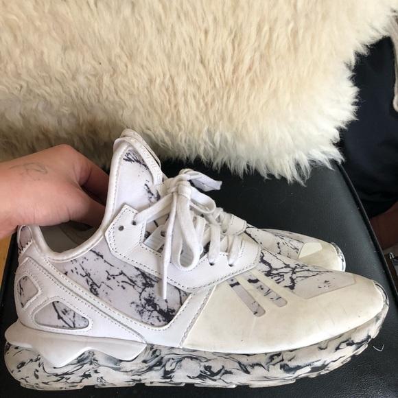silueta Desprecio Sostener  adidas Shoes | Adidas Tubular Runner Marble Grey Black White | Poshmark